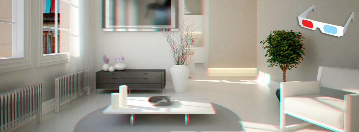 Interior | Bournemouth | Stereoscopic Image | 3d Visualisation